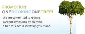 Environmentally conscious - One online booking, one tree